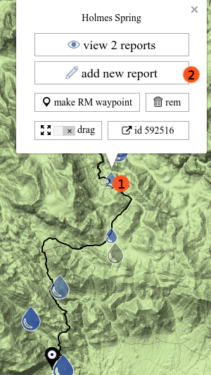 add water report on map