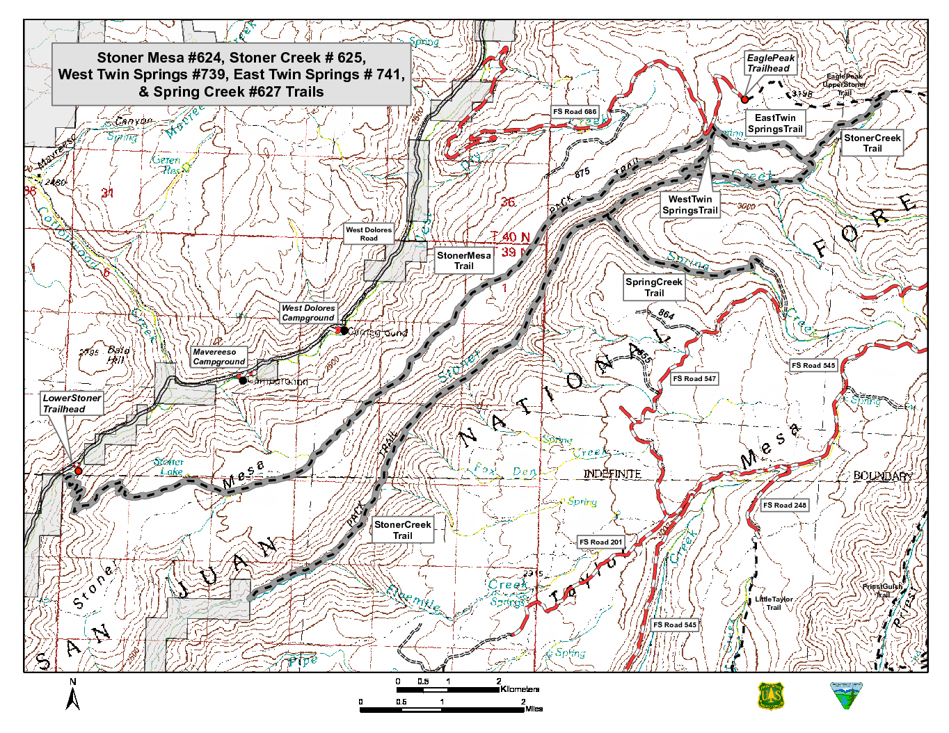 Single trail map tessin