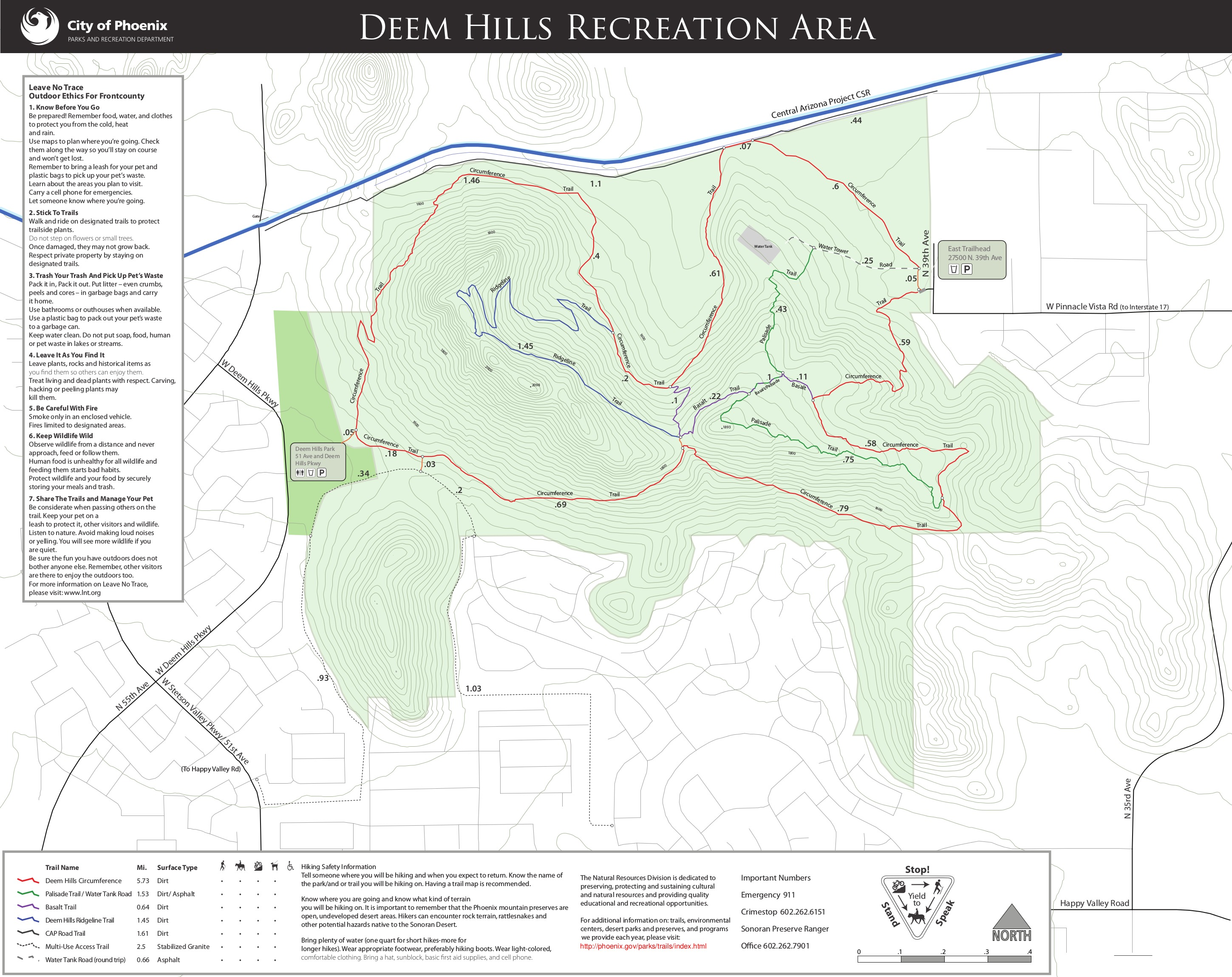 Deem Hills Park Trail Map on