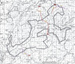 Hell's Gate Trail #37 - Vintage Map
