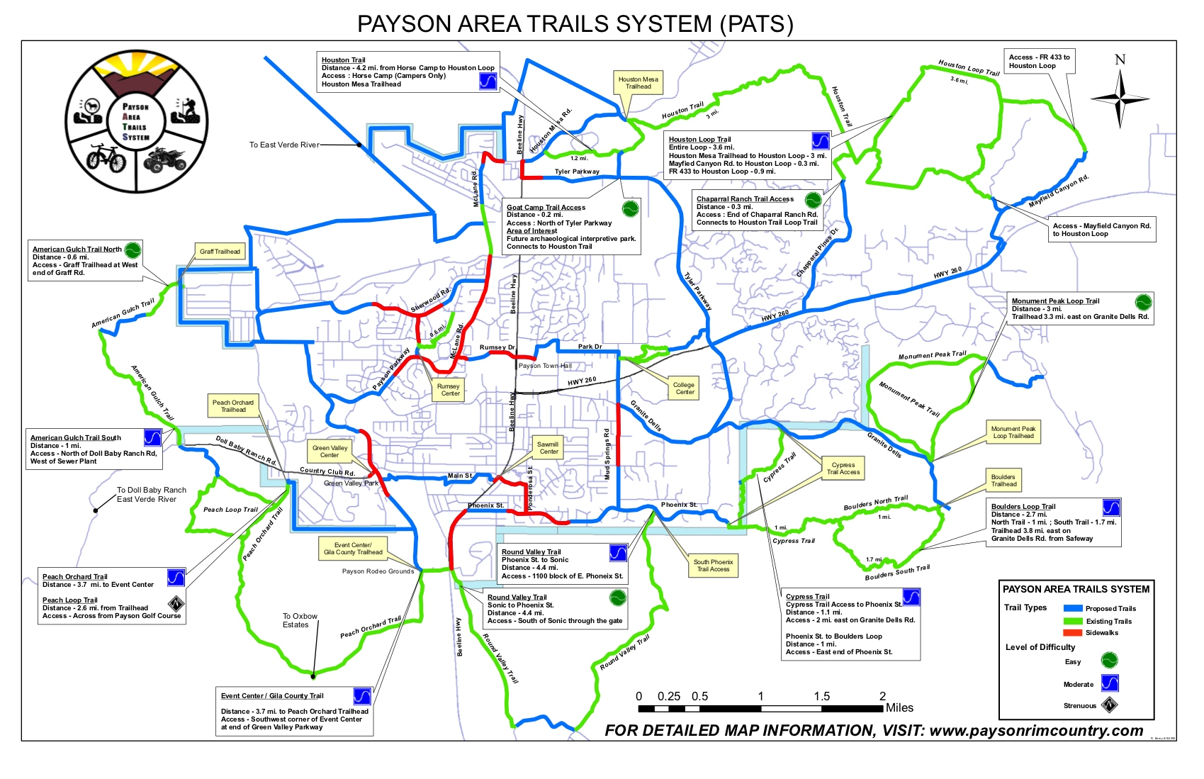 Payson to round valley loop hiking arizona pats map publicscrutiny Images