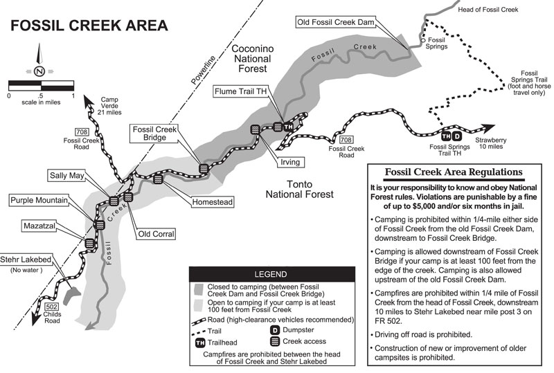 Fossil Creek Az Map Fossil Springs Trail #18   Fossil Creek, Arizona • Hiking